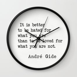 André Gide quote Wall Clock