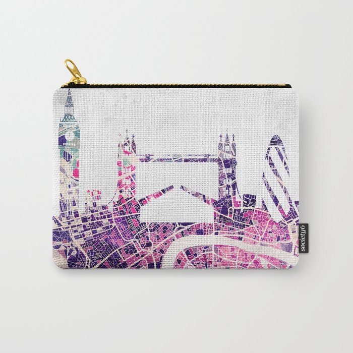 LONDON Skyline + map Carry-All Pouch