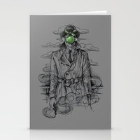 magritte Stationery Cards featuring Magritte Noir by Peter Kramar