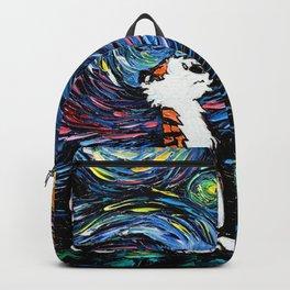calvin hobbes galaxy starry night Backpack
