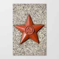 soviet Canvas Prints featuring Soviet star by Cozmic Photos