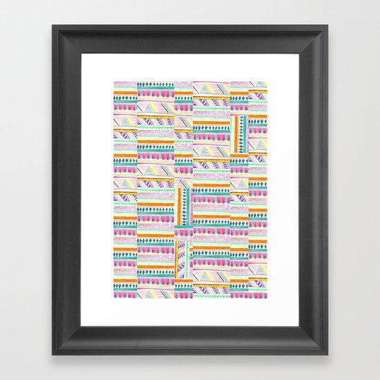 multicoloured AZTEC + Framed Art Print
