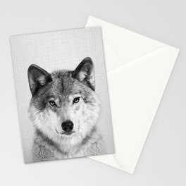 Wolf 2 - Black & White Stationery Cards