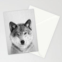 Wolf 2 - Black & White Stationery Cards
