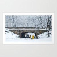 Snow in Central Park VII Art Print