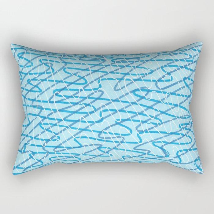 Blue Ripples Rectangular Pillow