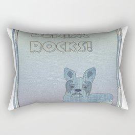Denim Rocks With Gradient Rectangular Pillow
