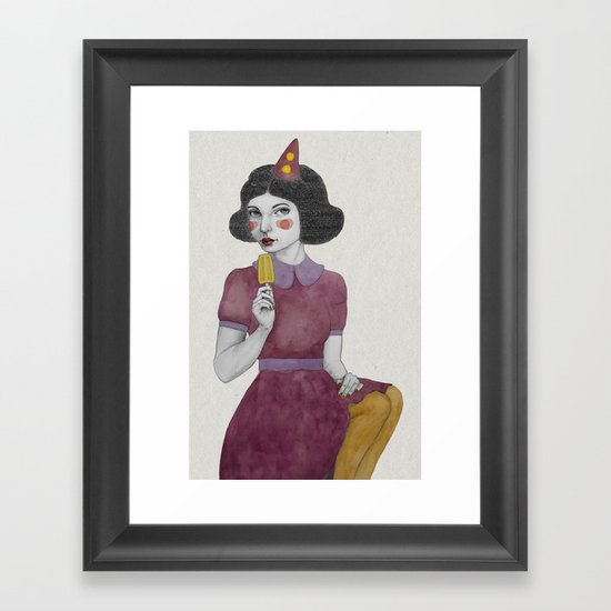 Andria dressed more colourful Framed Art Print