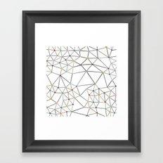 Seg with Color Spots White Framed Art Print