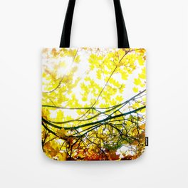 Lovely Autumn Leaves Tree Branch Nature - Canvas Texture Tote Bag