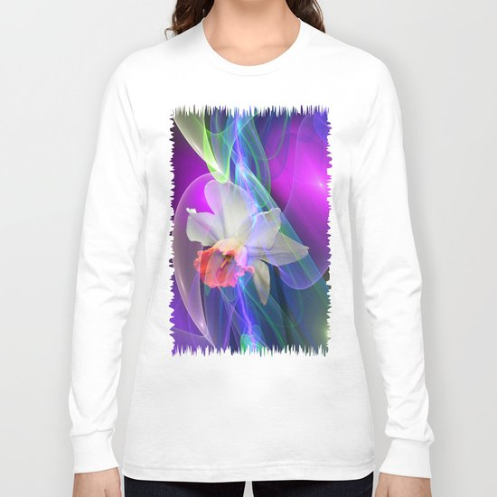Dreamy Spring with Daffodils Long Sleeve T-shirt