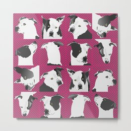 Little Spotted Dog - pink Metal Print