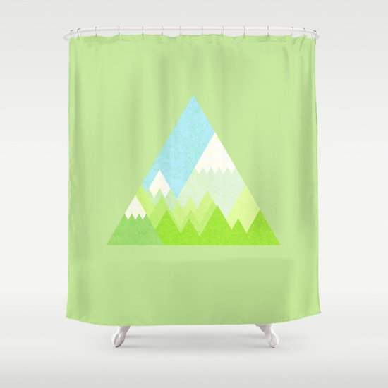 National Park Geometric Pattern Shower Curtain By Emma