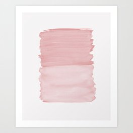 Blush Abstract Minimalism #1 #minimal #ink #decor #art #society6 Art Print