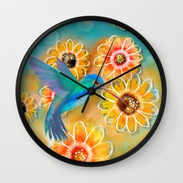 Hummingbird Bounty Wall Clock