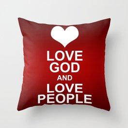 Love God & Love People - Bible Lock Screens Throw Pillow