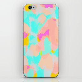 Carmela - Pink, green, blue abstract art iPhone Skin