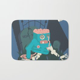 ZOMBIE CRAWLER IN CEMETARY Bath Mat