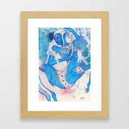 Sagittarius, The Lucky Traveler: Nov 22 - Dec 21 / Original Gouache On Paper Framed Art Print