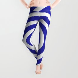 Circles (Navy Blue & White Pattern) Leggings