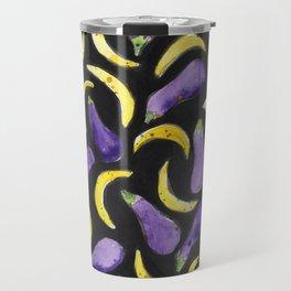 Eggplant & Bananas Travel Mug