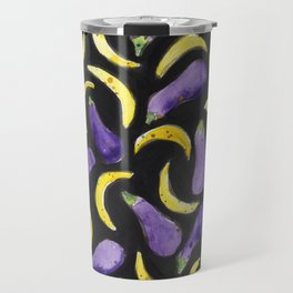 Eggplant & Bananas Travel Mug