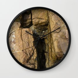 Door into the Cliff Face Wall Clock