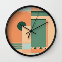 deco Wall Clocks featuring Deco by ktparkinson