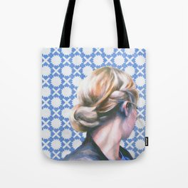 Hair Study #13 Blue Tote Bag