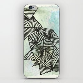 Geometrical Watercolour 1 iPhone Skin