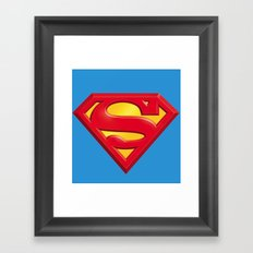 Superman logo Framed Art Print