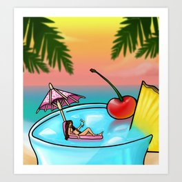 blue hawaii Art Print