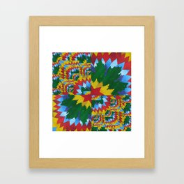 math book paper- painted and made into a collage by catherine jacobs cathy art Framed Art Print