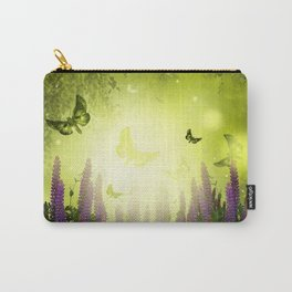 """""""Forest, flowers and butterflies"""" Carry-All Pouch"""