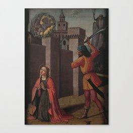 Pinturicchio - Onthoofding van de heilige Catharina van Alexandria Canvas Print