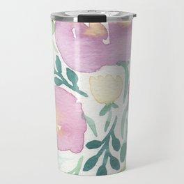 Pink and Green Travel Mug
