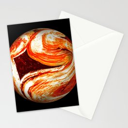 Globe21/For a round heart Stationery Cards