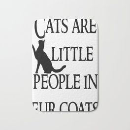 Cats are little people... Bath Mat