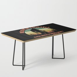 Bigfoot Funny Believe In Yourself Motivational Sasquatch Vintage Sunset Coffee Table