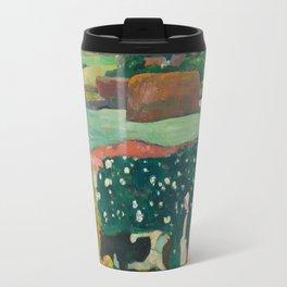Paul Gauguin, Haystacks in Brittany, 1890 Travel Mug