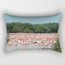Flamingo Landing Rectangular Pillow
