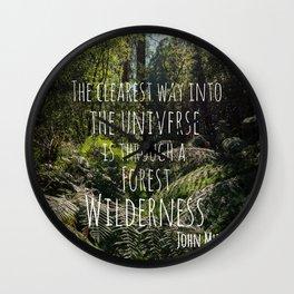 Forest Wilderness Wall Clock
