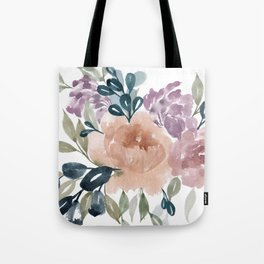 Fall Flowers + Leaves Tote Bag