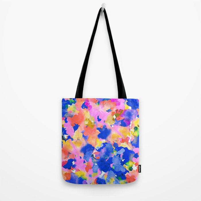 Floral splash Tote Bag