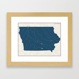 Iowa Parks - v2 Framed Art Print