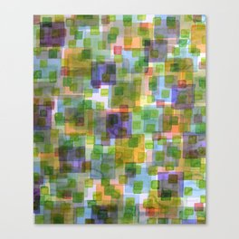 Large Squares covered by Small Green Squares Canvas Print