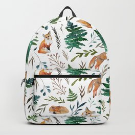 Foxes and Ferns Pattern Backpack