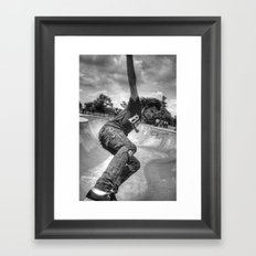 The Skater In The Bowl Framed Art Print