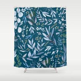 Eucalyptus Blue Shower Curtain