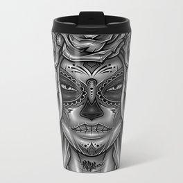 Dia De Los Muertos Metal Travel Mug